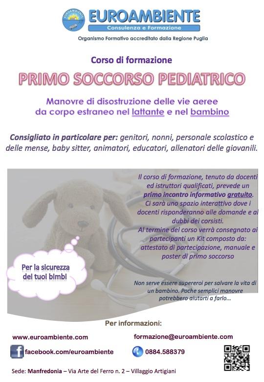 Copertina Locandina Primo Soccorso Pediatrico