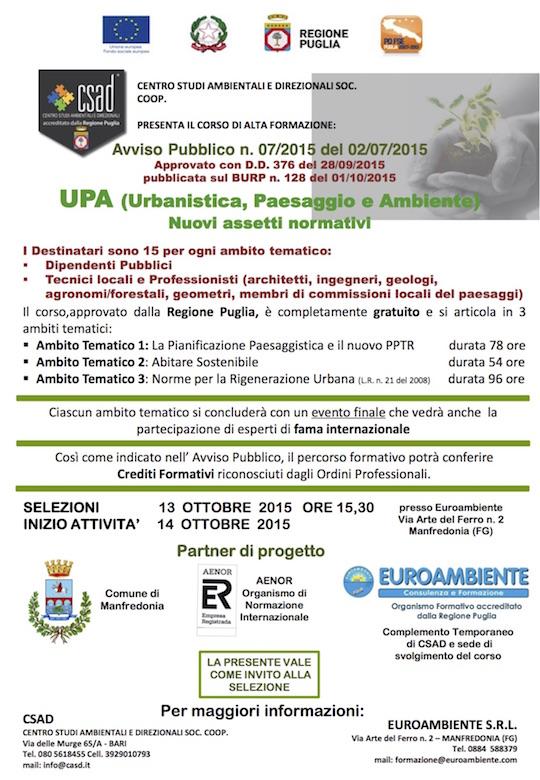 Locandina Corso UPA